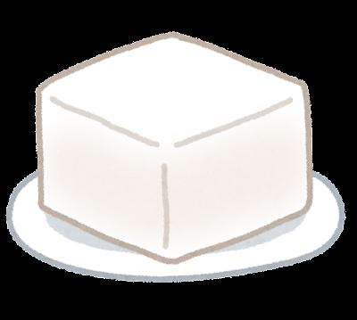 豆腐のイラスト(絹)