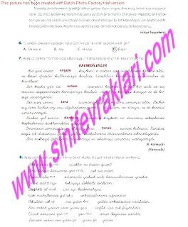 8.Sinif Turkce Enderun Yayinlari Calisma Kitabi Cevaplari Sayfa 37