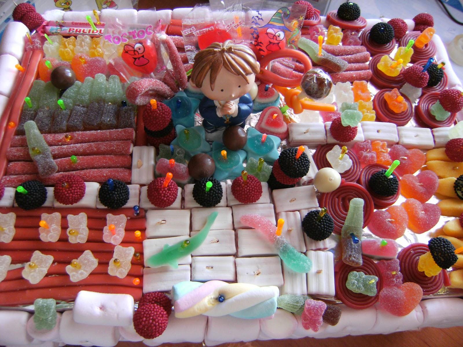 Cocina con alegria tarta de chuches de comunion for Cocina con alegria