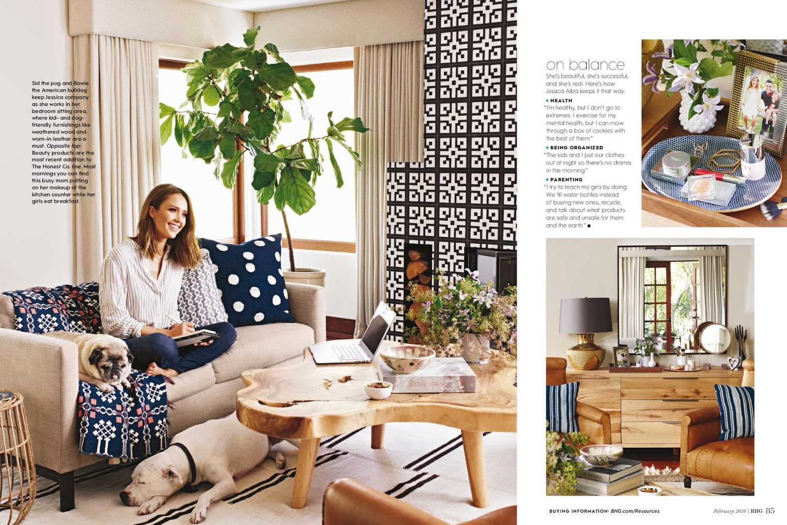 Celebrity Interviews Library Jessica Alba In Better Homes