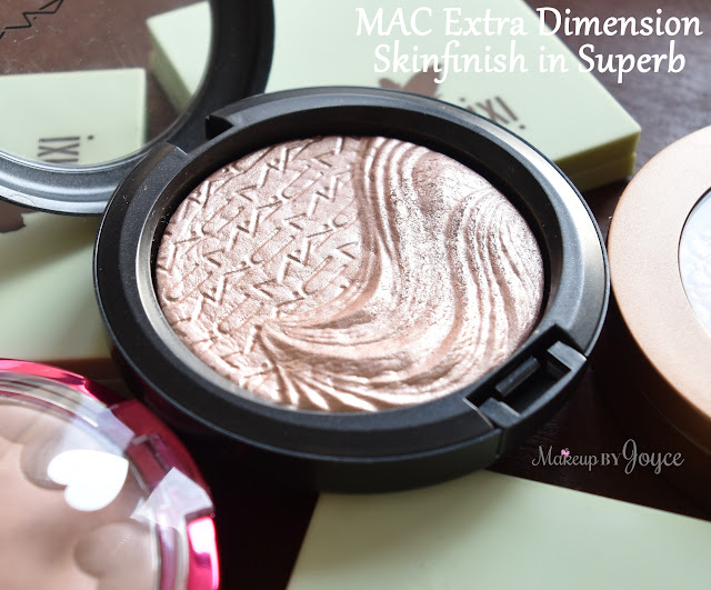 MAC Superb Extra Dimension Skinfinish Review Swatch