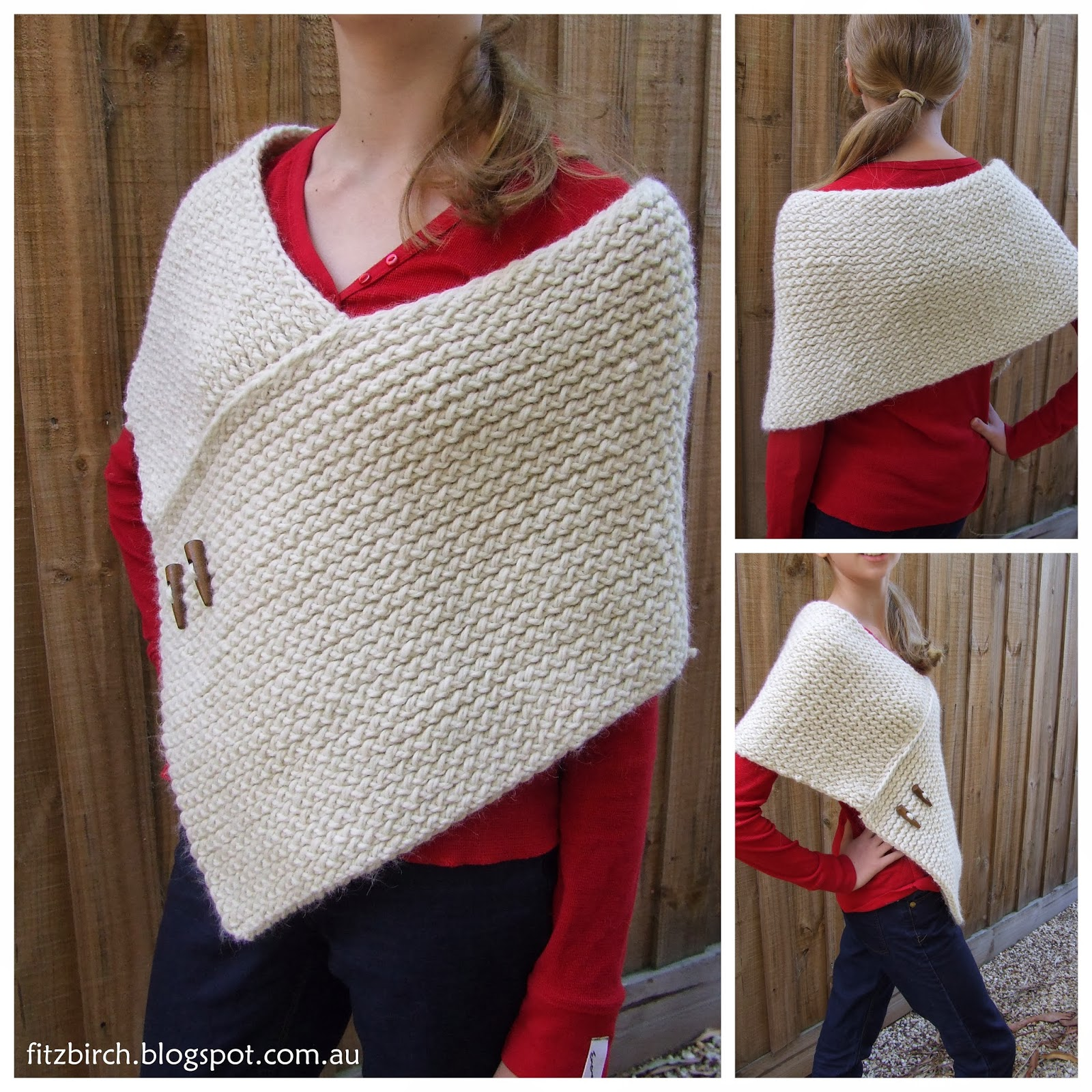 Knitting Patterns For Wraps Free : FitzBirch Crafts: Loom Knit Wrap