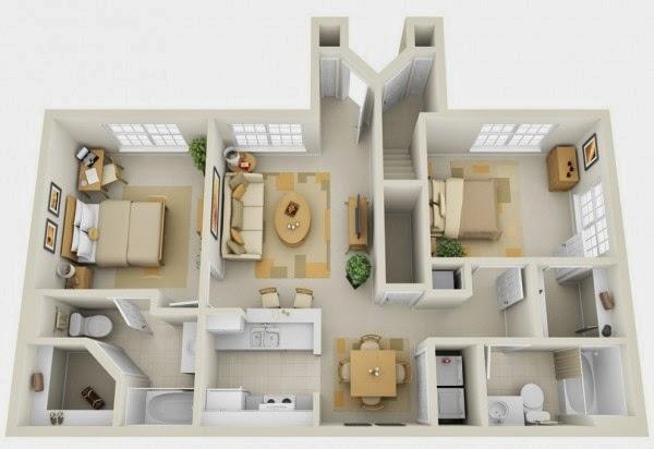Bedroom apartmenthouse plans part