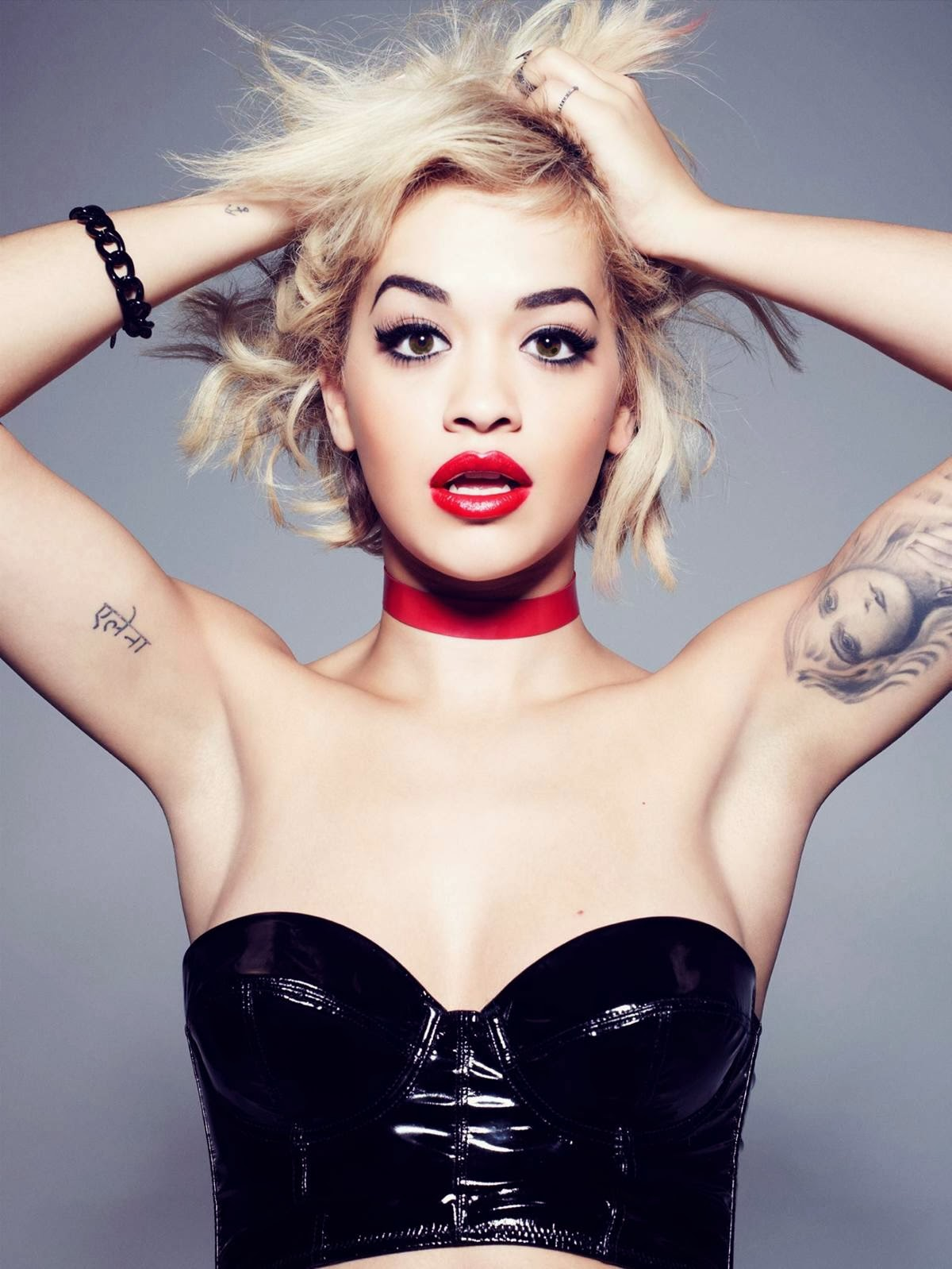 Rita Ora in Bold Red Lips & Cat Eye Liner For Rimmel London