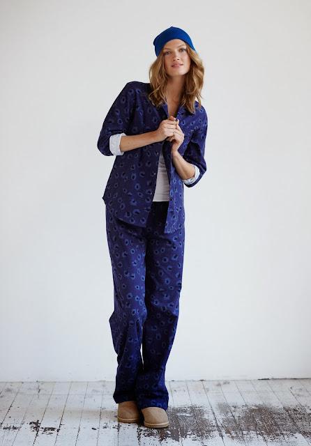 blue ladies pyjamas
