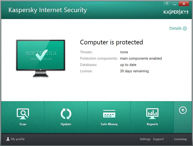 Kaspersky Internet Security screenshot 1 - Kaspersky