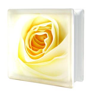 บล็อกแก้ว โรส สีเหลือง