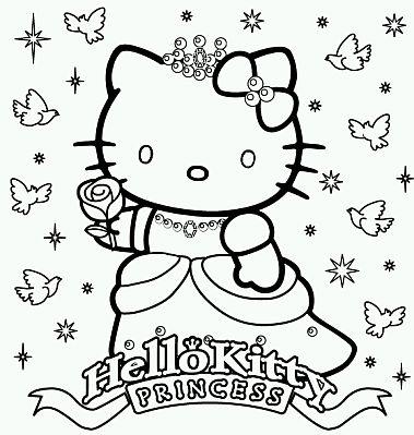 Hello Kitty Para Pintar Related Keywords & Suggestions - Hello Kitty ...