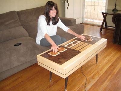 diseño mesa de centro nintendo