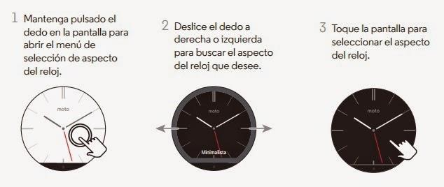 Motorola Moto 360 - Aspecto del reloj
