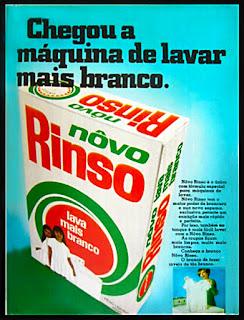 propaganda sabão em pó Rinso; história anos 70; propaganda na década de 70; reclames anos 70; Brazil in the 70s; Oswaldo Hernandez;
