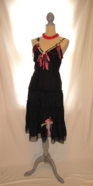 Gypsy Boho Styles Spring-Summer Strap Black Party Dress