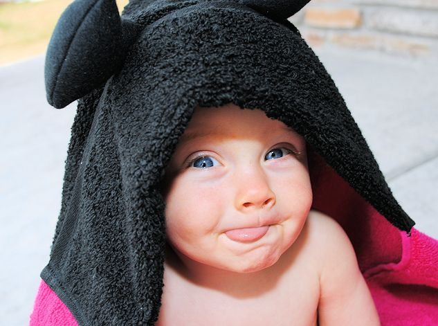 Ladybug Hooded Towel Tutorial by Crazy Little Projects
