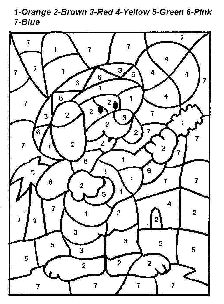 Numbers coloring pictures for kids for Number coloring pages for toddlers