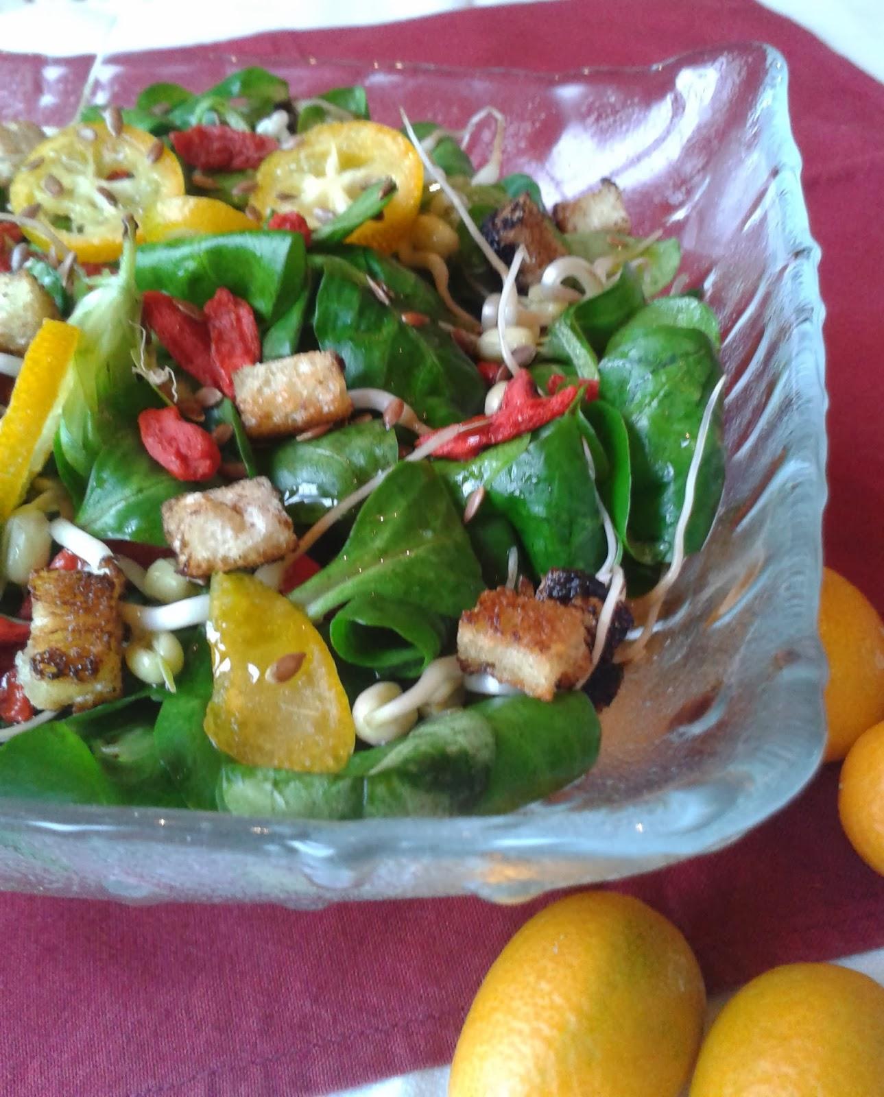 insalata salutista con mandarini cinesi