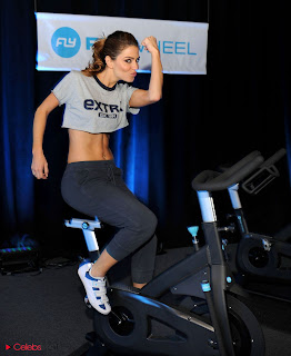 Maria Menounos Pictures at Flywheel's Pop Up Studio at the NFL House in New Orleans 0007