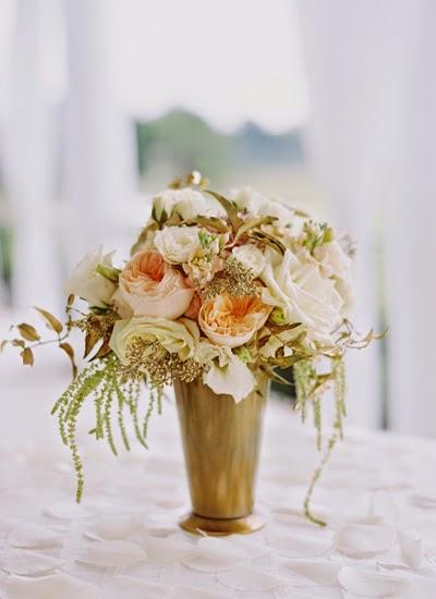 bukett guld vitt, bouquet gold white