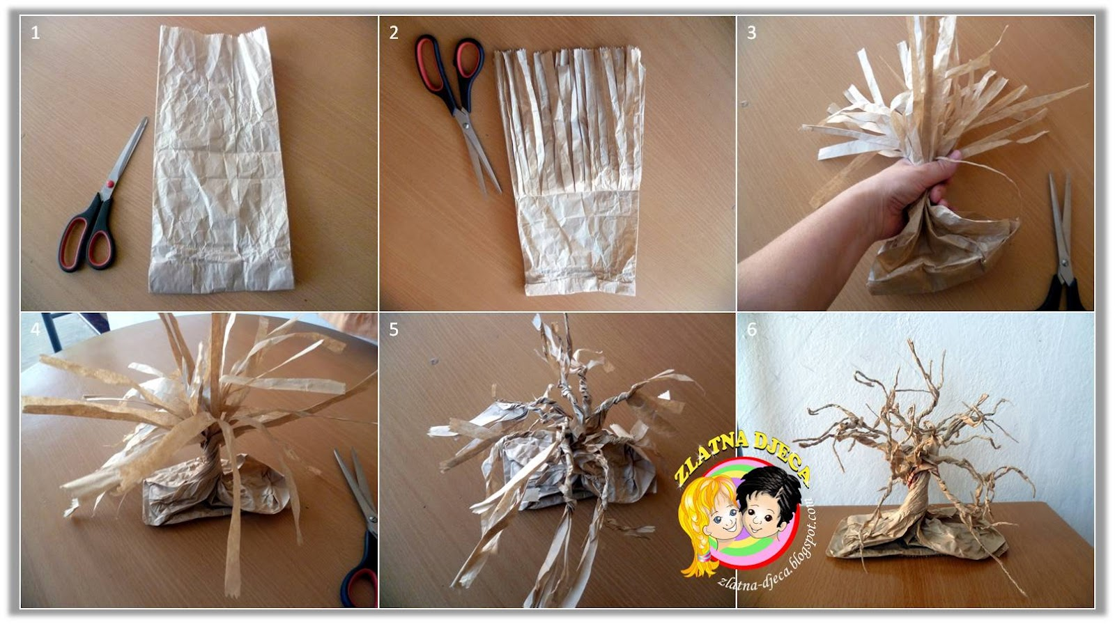 Zlatna djeca: Drvo od papirnate vrećice
