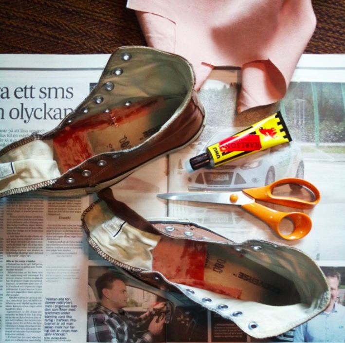lim för skor