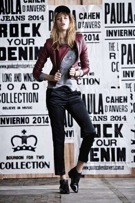 Moda invierno 2014 Paula Cahen D'Anvers camperasde cuero mujer 2014.