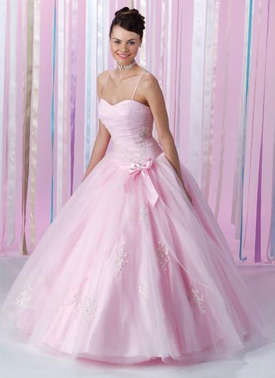 in pink feel sweet in this pretty pale pink organza over satin gown