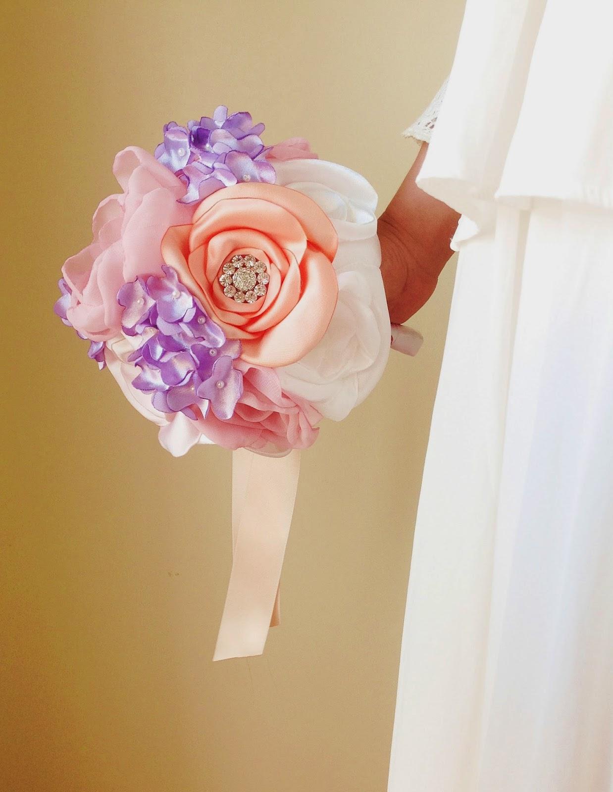 bouquet de noiva lilases