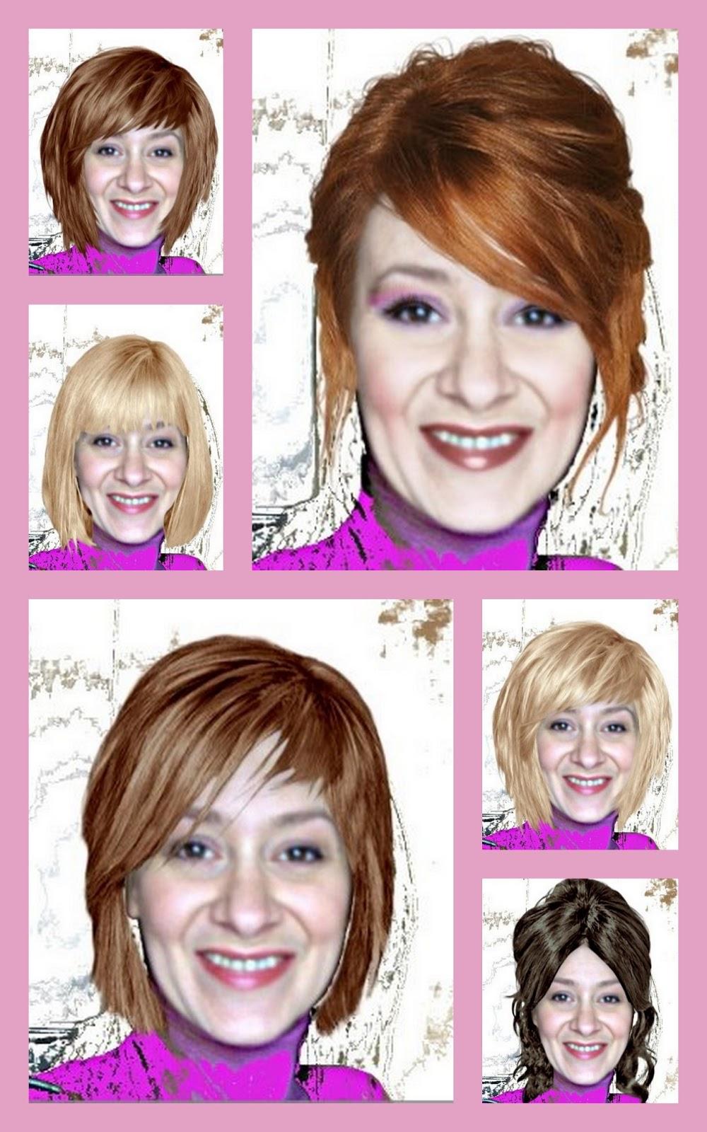 Application pour changer de coupe de cheveux femme