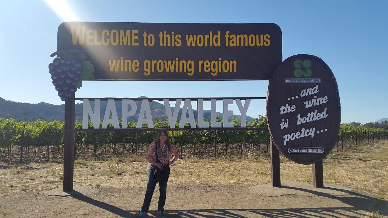 Visita a Napa Valley; CA EE.UU.