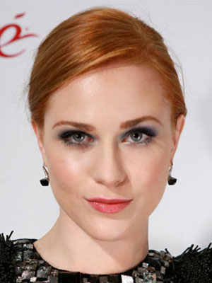 Evan Rachel Wood's smooth updo looks timeless and super-elegant.