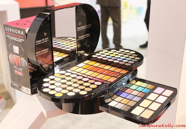 sephora makeup box set. sephora holiday 2015 collections, press day preview, nudestix, wen by chaz dean. blockbuster diamond beauty box brilliant makeup palette set h