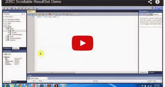 Java ee jdbc scrollable resultset demo for Pool design pattern java