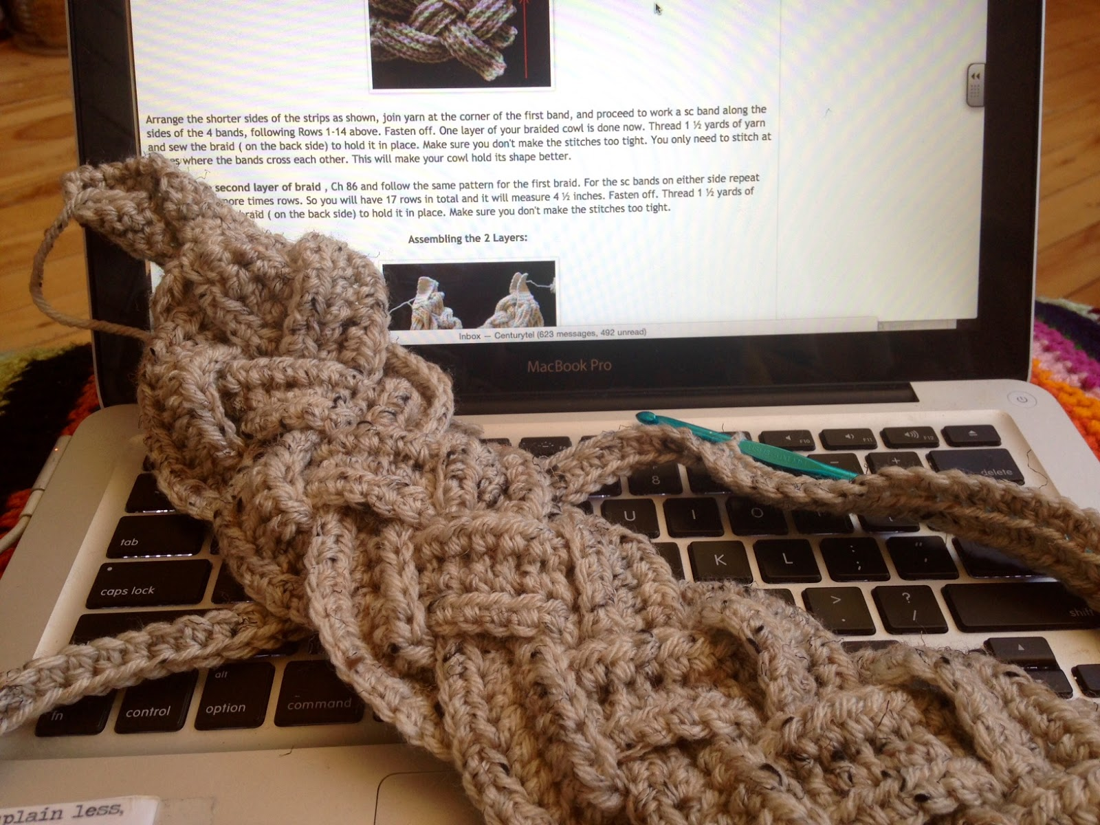 Amy\'s Passions: Double Layer Braided Cowl [Crochet]