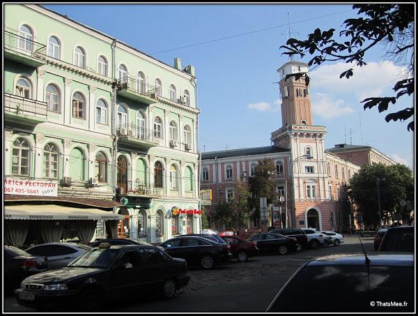 Kiev batiments façades couleur vert