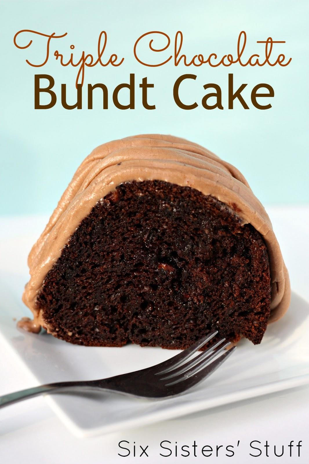 Triple Chocolate Bundt Cake | Six Sisters' Stuff