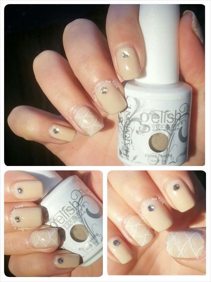 Pins patterns and polish neutral nail art featuring moyou neutral nail art featuring moyou stamping and swarovski crystals prinsesfo Image collections