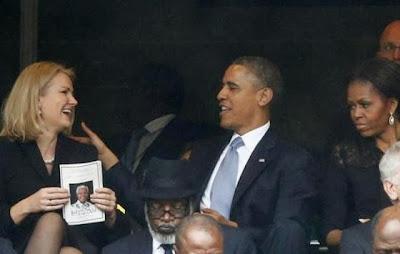 obama y la rubia y su esposa molesta