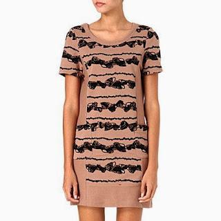 Tea-cup print dress