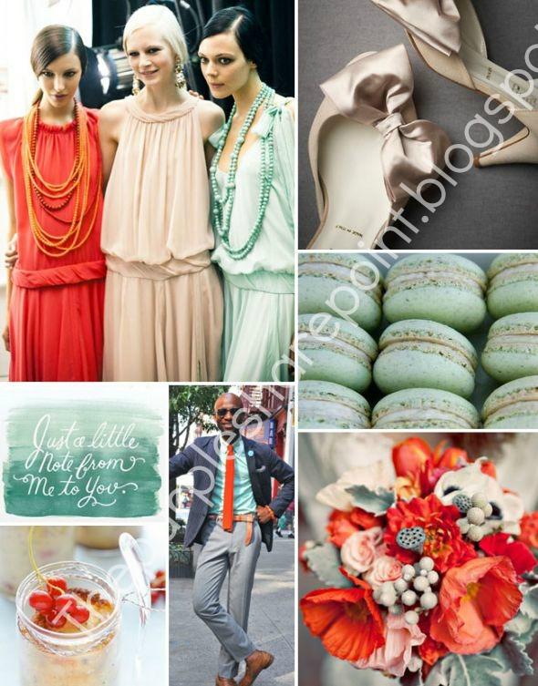 Coral Mint Blush Color Wedding Theme Fashion Now