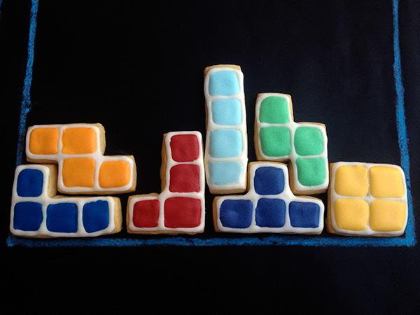 galletas tetris decoradas: piezas