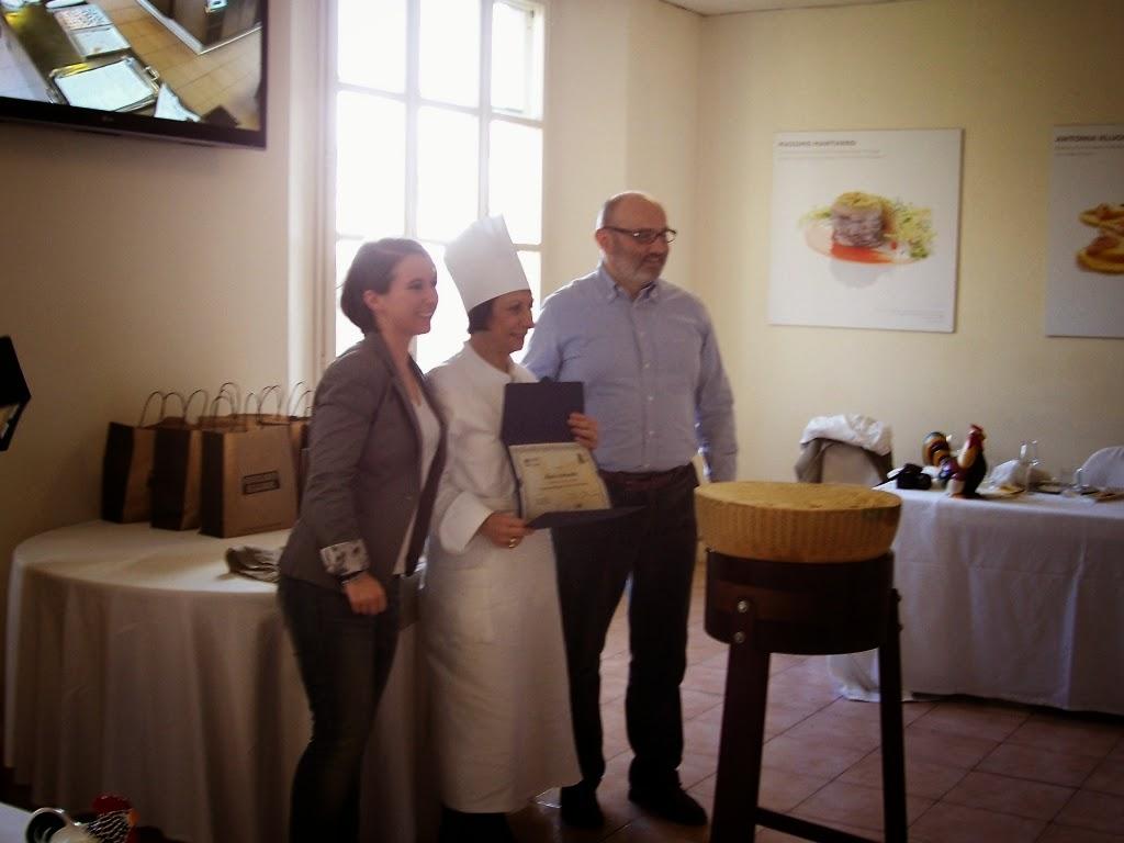 La consegna del diploma alla scuola Internazionale di Cucina Italiana ALMA di Gualtiero Marchesi