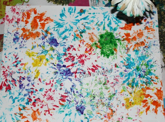 Painting / Printing with Flowers Kids Art