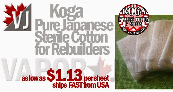 Koga Pure Organic Japanese Cotton for Rebuilders