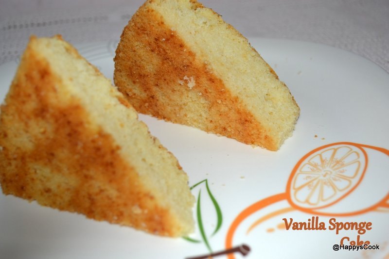 Basic vanilla sponge cake recipe happy 39 s cook for Basic vanilla sponge