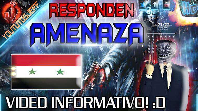 EL ESTADO ISLAMICO RESPONDE A LA AMENAZA DE ANONYMOUS 2015