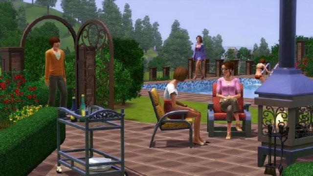 The sims 3 outdoor living stuff full version download for Sims 4 jardin romantico