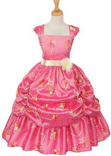 Vestidos Niña de las Flores, Color Coral (3)