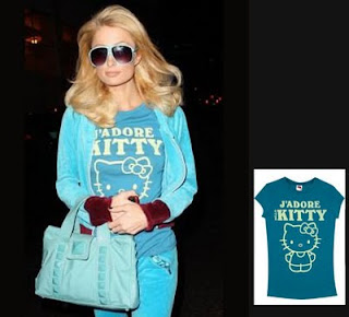 Paris Hilton with Hello Kitty