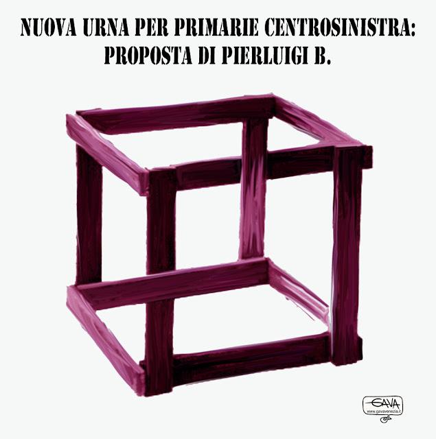 Primarie centrosinistra pd Bersani Gava Satira Vignette