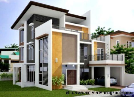 Desain Rumah Minimalis Modern 2 Lantai Baru   Denah Rumah Sederhana