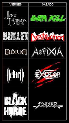 Cartel completo y distribución por días del Luarca Metal Fest 2013